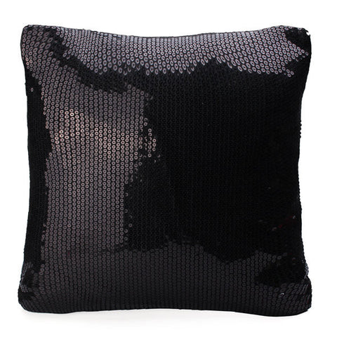 Pure Color Glitter Sequins Throw Pillow Case Waist Cushion Cover Home Sofa Car Decor