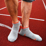 Men's Soft Cotton Sports Basketball Anti-Slip Colors Patchwork Short Tube Socks