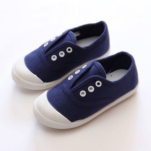 Children Canvas Sports Shoes Boys Girls Sneaker Kids Waterproof Silicon Flat Casual Shoe