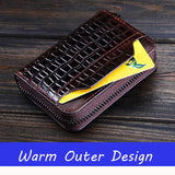 Mens Cowhide Leather Wallet Genuine Leather Wallet First layer of leather Purse