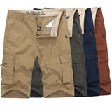 Summer Outdoor Cargo Shorts Multi Pocket Straight Leg Casual Cotton Shorts For Men