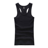Summer Solid Color Sport Breathable Cotton Casual Undershirt Slim Fit Tanks Top For Mens