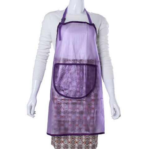 Transparent Waterproof Dye Hair Salon Manicures Cooking Apron