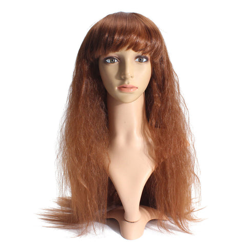 70cm Long Curly Wavy Wig Cosplay Party Wigs Full Bang Women Lady
