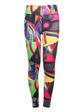 Women Sexy Colorful Printing Ninth Pants Elastic Slimming Leggings Sportwear