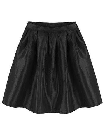 High Waist Metallic Slim A-Line Mini Skirt