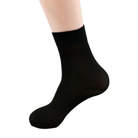 A Bundle of 10 Pairs Man's Short Bamboo Fiber Socks Stockings Middle Socks - shechoic.com