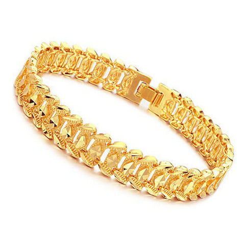 18K Gold Plated Rhombus Metal Bracelet