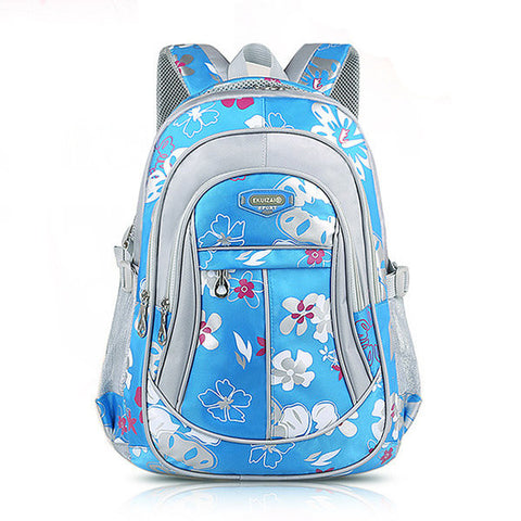 Children Backpack Canvas School Bag Flower Print Rucksack Boy Girl Tour Bags