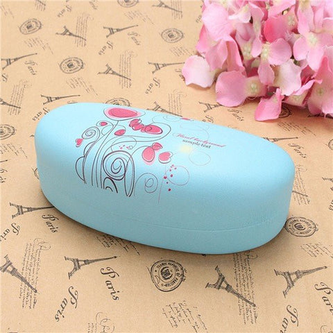 Candy Colors Love Flowers Pattern Eyeglasses Case Sunglass Reading Glasses Case