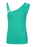 Sexy Off Shoulder Pure Color Strap Tank Top For Women
