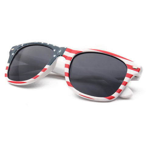 Retro Plastic Frame UV Protection American USA Flag Sunglasses