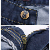 Men's Denim Fabric Jeans Mid-Rise Casual Slim Skinny Straight Jeans