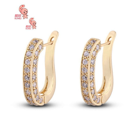 18K Gold Plated Crystal Ear Stud