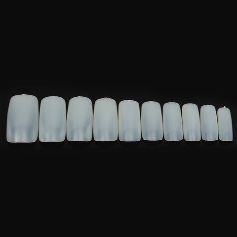 500 Pcs White Natural Transparent False Nail Art Tips Acrylic French