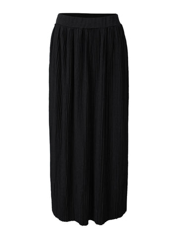 Elegant High Waist Pleated Knitted Maxi Skirt For Women