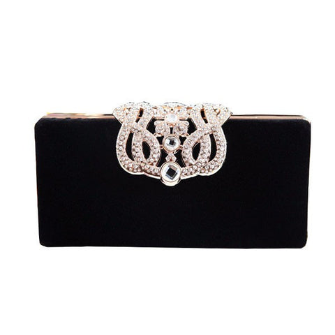 Women Crystal Diamond Shell Evening Bag