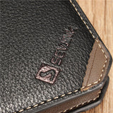 Men Business Casual Short Bifold Pocket Card Holder Purse Wallet Slim Clutch