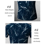 Mens Gym Sports Training Tights Lightning Printing Wicking Short Sleeved T-shirts