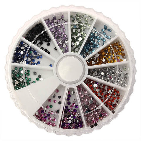 1.5mm Acrylic Nail Art DIY Rhinestones Decoration UV Gel Stickers