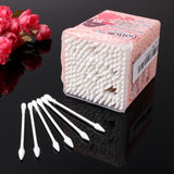 200Pcs Cosmetic Cotton Swabs Beauty Cleansing Tools Double Ended White With A Box