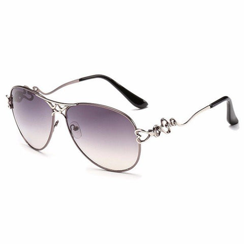 Women Luxury Pilot Style Sunglasses Metal Frame Vintage Eyeglasses