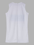 Women Sleeveless Letter Printed O Neck Casual Tank Top Long Vest