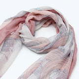 Women Long Print Voile Scarf Wrap Ladies Shawl Girls Large Scarves