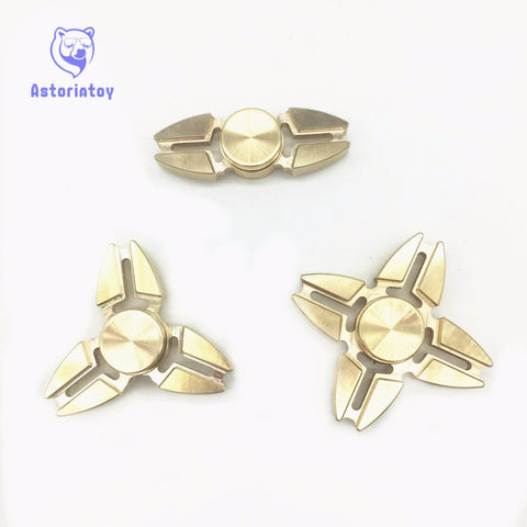Hot Selling EDC Toys Triangular Hand Spinner orqbar brass Metal Professional Fidget Spinner Autism and ADHD Hand Spinner