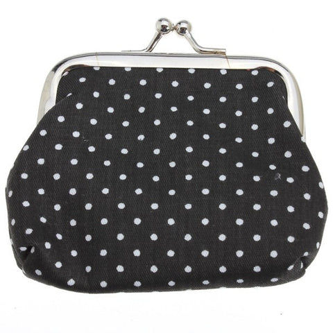 Cute Wave Point  Women Clutch Change Purse Mini Wallet