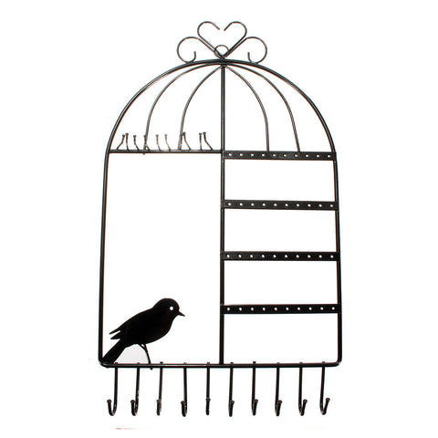 Alloy Birdcage Shaped Jewelry Display Rack