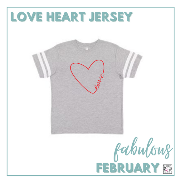 Fabulous February - Love Heart Jersey