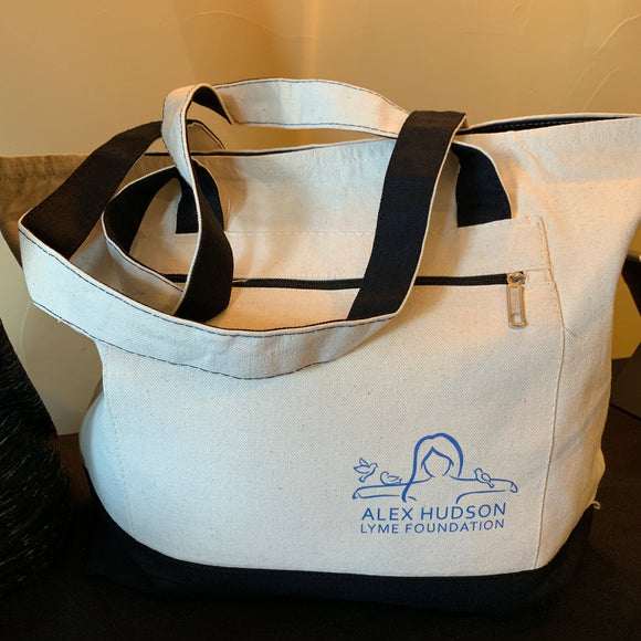 Alex Hudson Lyme Foundation Zipper Tote Bag