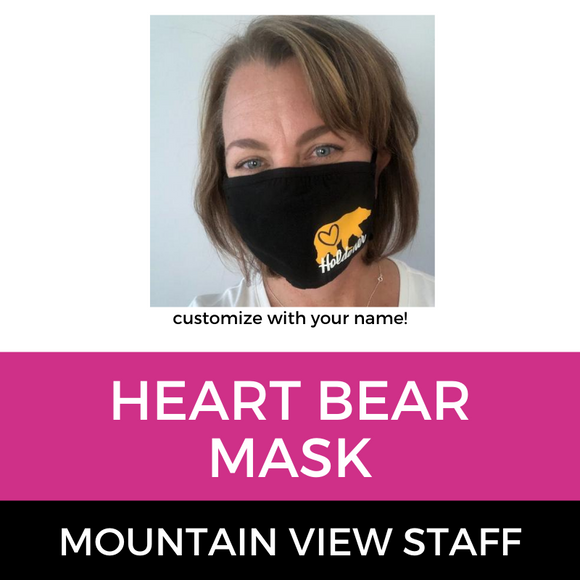 Mountain View Staff Bear with Heart Mask