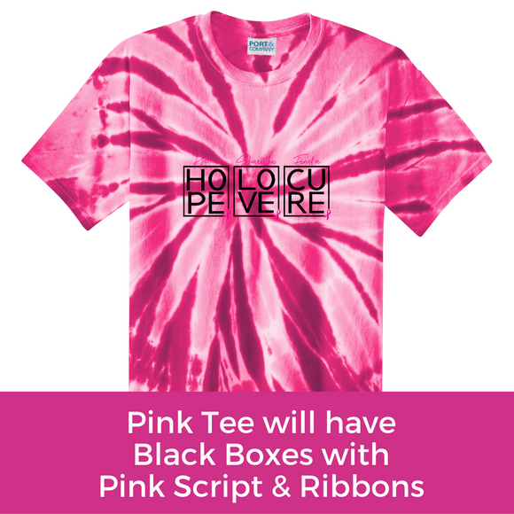 Hope Love Cure Tee - Pink Tie Dye