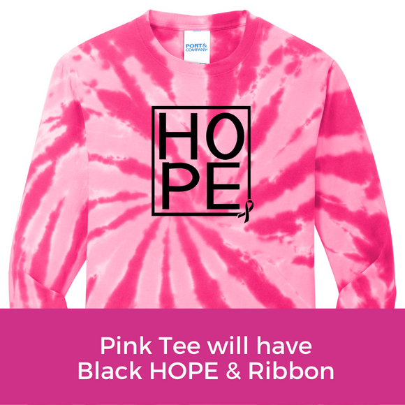 Hope Tee - Pink Tie Dye Long Sleeve