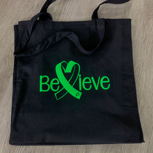 Alex Hudson Lyme Foundation Believe Black Tote Bag
