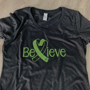 Alex Hudson Lyme Foundation Believe Ladies V-Neck