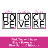 Hope Love Cure Tee-  Pink