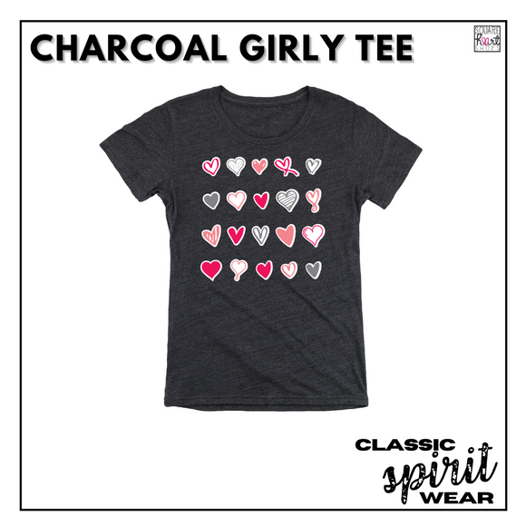 Classic SpiritWear - Charcoal Girly Tee
