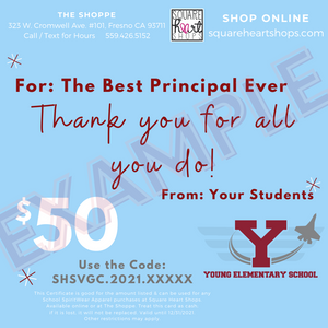 Virtual Gift Card - School Spirit