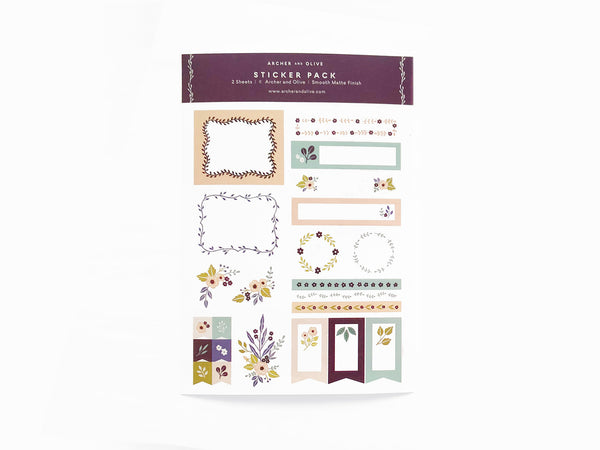 Archer & Olive Planner | Bullet Journal Stickers - Be Mine