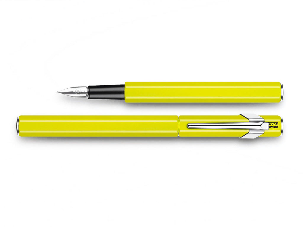 Caran D'Ache 849 Metal Fountain Pen Fluorescent Yellow