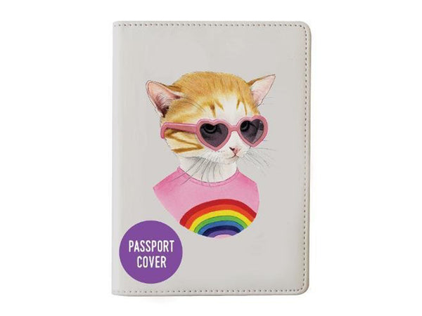 Berkley Bestiary Rainbow Kitten Passport Cover