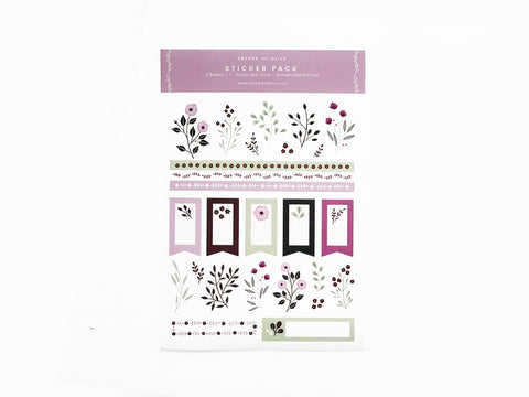 Archer & Olive Planner | Bullet Journal Stickers - Berries