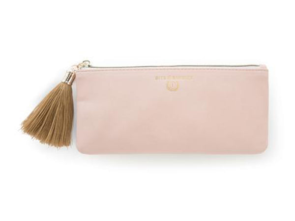 Vegan Leather Pencil Pouch With Tassel