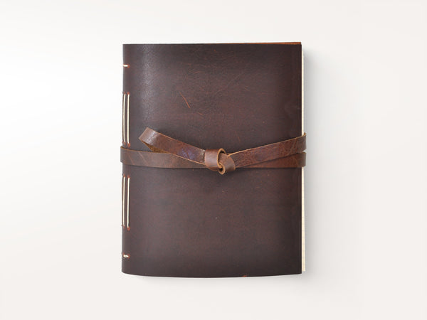 Journals - Dusty Road Handmade Leather Journal - Jenni Bick Bookbinding - 1