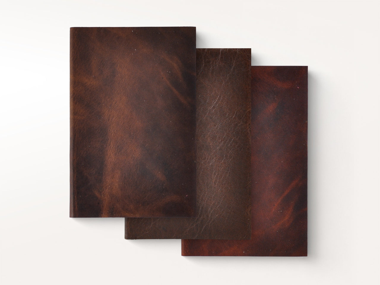 Journals - Essential Leather Pocket Notebook Trio - Jenni Bick Bookbinding - 1