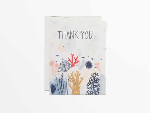 Red Cap Coral Reef Thank You Card Box of 8