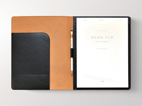 Sleek Padded Italian Leather Padfolio